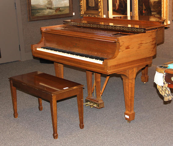 A model M Steinway grand piano Serial no. 362588