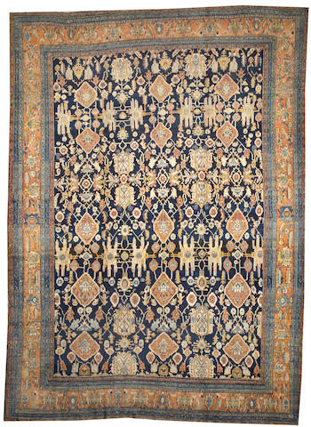 A Bibikabad carpet Central Persia size approximately 12ft. x 16ft. 8in.