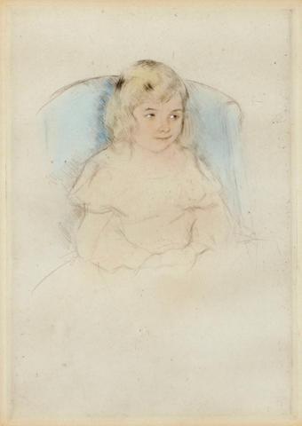 Mary Cassatt (American, 1845-1926); Sara Smiling;