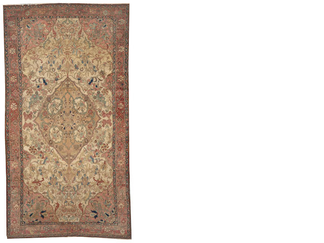 A Malayer long carpet Central Persia size approximately 5ft. 6in. x 10ft.