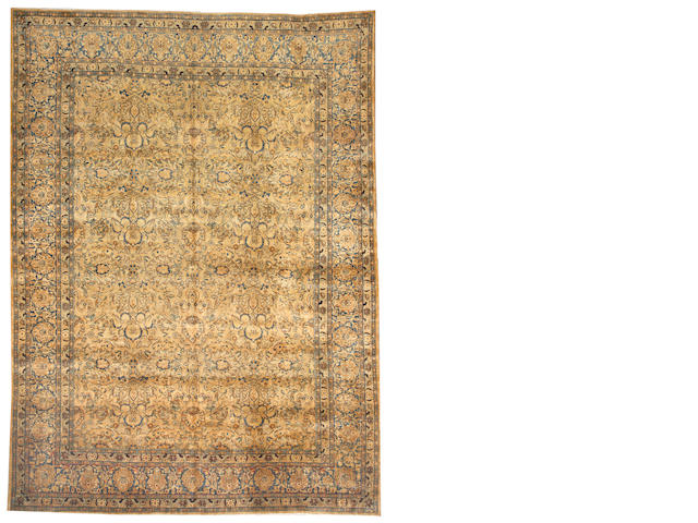 A Lavar Kerman carpet South Central Persia size approximately 8ft. 8in. x 11ft. 9in.