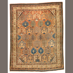 A Tabriz rug Northwest Persia size approximately 4ft. 2in. x 5ft. 4in.