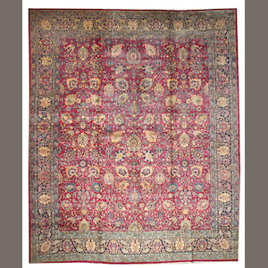 A Tabriz carpet Northwest Persia size approximately 13ft. 7in. x 16ft. 4in.