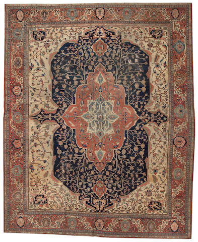 A Sarouk Fereghan carpet Central Persia size approximately 11ft. 2in. x 13ft. 7in.