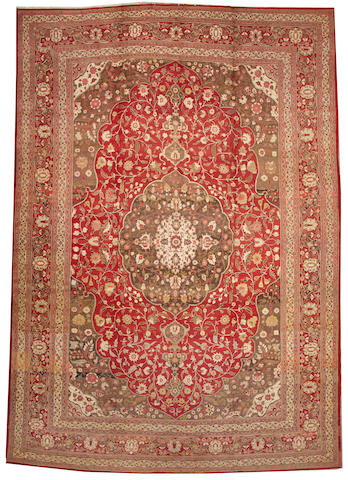 A Tabriz carpet Northwest Persia size approximately 12ft. 8in. x 18ft. 7in.