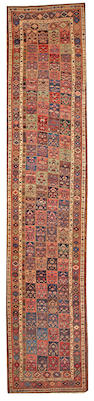 A Bidjar runner Northwest Persia size approximately 3ft. 11in. x 18ft. 6in.