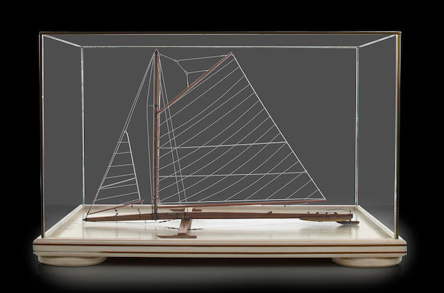 An ice boat model, in case