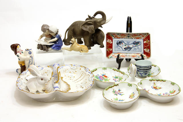 An assembled group of ceramics and glass  19th/20th century
