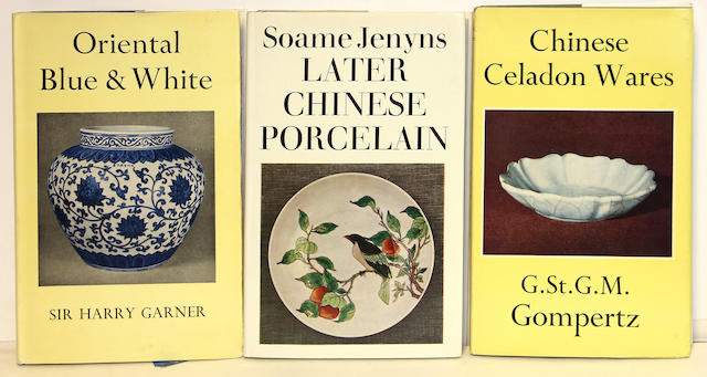 A group of nine books on Chinese ceramics