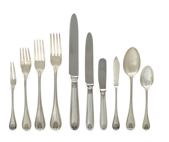 An Italian sterling flatware set Buccellati, Milan, mid-20th century
