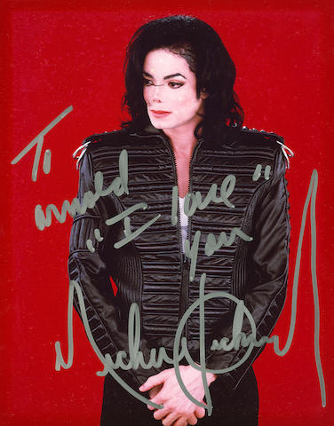 Michael Jackson inscribed and signed photograph