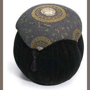 Furniture from the Versace line owned by ET and given to Dr. Klein. 1 pouf.