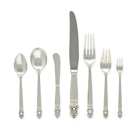 An American sterling silver flatware service International Silver Co., mid-20th century