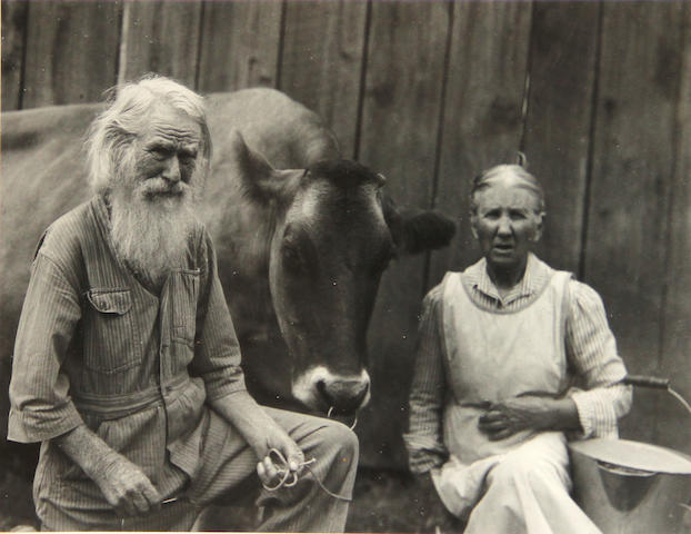 Imogen Cunningham (American, 1883-1976); My Father, My Mother and Bossy;