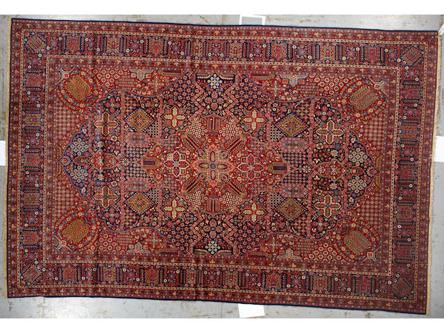 A Malayer carpet Size approximately 6ft. 8in. x 16ft. 6in.