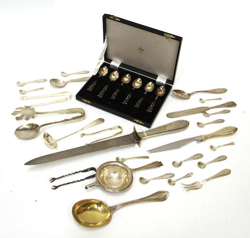 A sterling flatware group