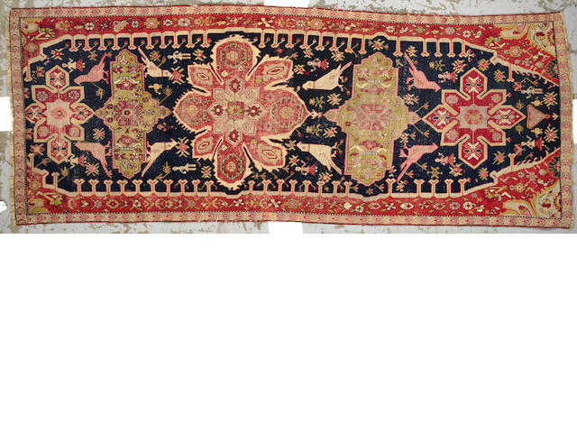A Karabagh runner Caucasus size approximately 4ft. 7in. x 11ft. 9in.