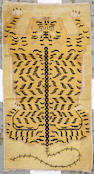A Tibetan Tiger rug Tibet size approximately 2ft. 8in. x 5ft.