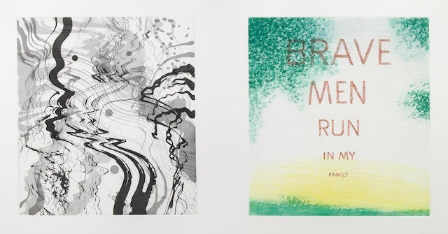 Edward Ruscha (American, born 1937); and Jim Ganzer (American, 20th century) One Plate, from Brave Men Run in My Family;