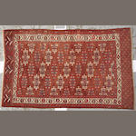A Yamud carpet Caucasus size approximately 6ft. 3in. x 10ft. 1in.