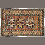 A Lesghi rug Caucasus size approximately 3ft. 2in. x 4ft. 10in.