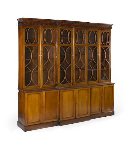 A George III mahogany bookcase cabinet<BR />late 18th/early 19th century