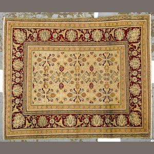 A Hereke rug Turkey size approximately 5ft. x 6ft.