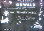 Walt Disney Hungry Hobos, 1928, the only known copy of the film previously recorded as lost, featuring Oswald The Lucky Rabbit and Peg Leg Pete,