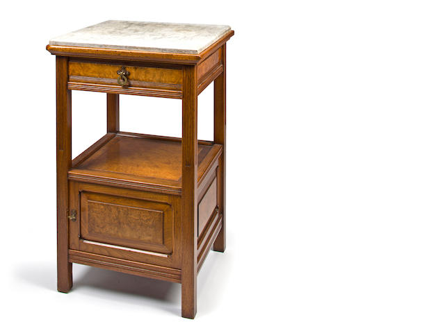 An American Aesthetic Movement butternut bedside table