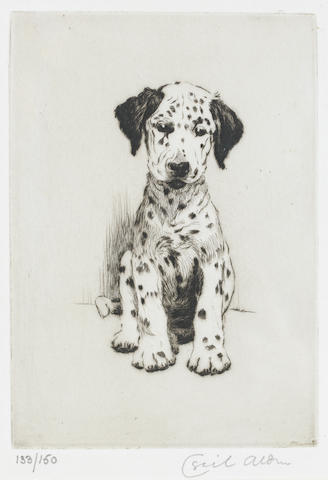 Cecil Charles Windsor Aldin, RBA (British, 1870-1935) Loopy - the ugly puppy 6 1/2 x 4 1/2 in. (16.5 x 11.5 cm.)