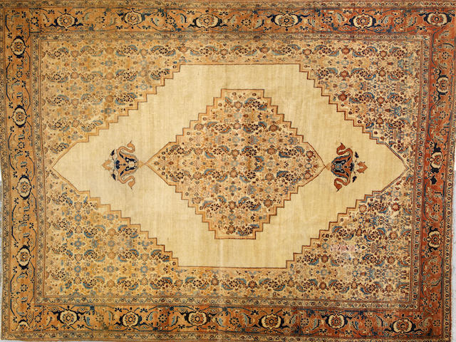 A Tabriz carpet1005 Northwest Persia size approximately 8ft. 6in. x 11ft. 3in.