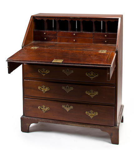 18th C English Chippendale slant front desk.