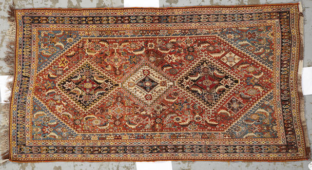 A Qashq'ai  rug Southwest Persia size approximately 4ft. x 7ft. 5in.