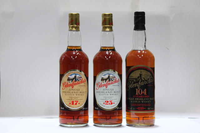 Glenfarclas 105-12 year old  Glenfarclas-17 year old  Glenfarclas-25 year old