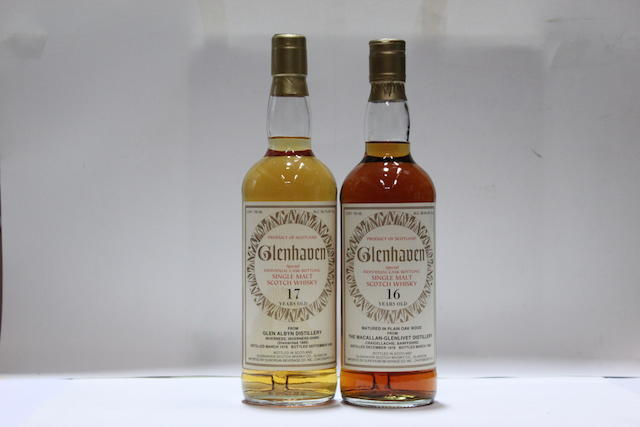 Macallan-Glenlivet-16 year old-1978  Glen Albyn-17 year old-1978