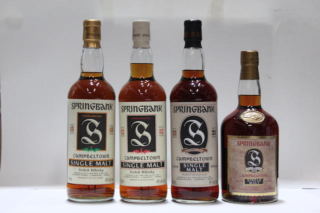 Springbank-30 year old  Springbank-21 year old  Springbank-15 year old  Springbank-12 year old