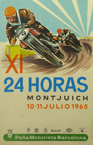 An 11th 24 Hours of Montjuich poster, Spain, July 1965,
