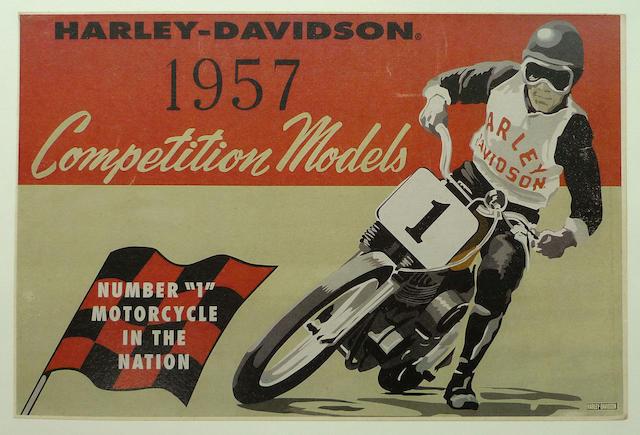 A Harley-Davidson, 1957 Competition Models poster,