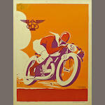 A Motorcycle Club de France poster, art by Geo Ham, June 1935,