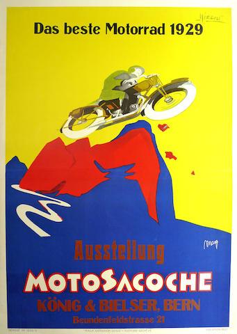 A Moto Sacoche poster, 1929,