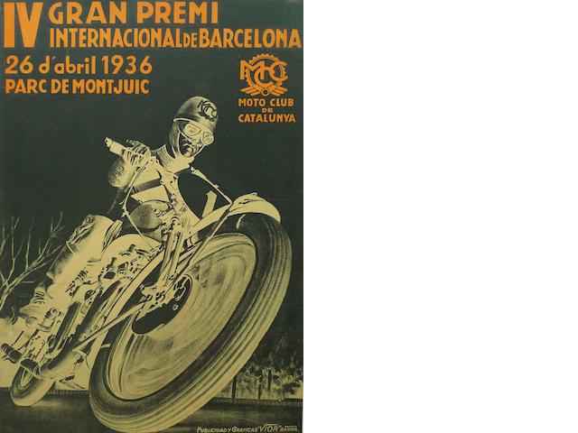 A Barcelona GP poster, 1936,
