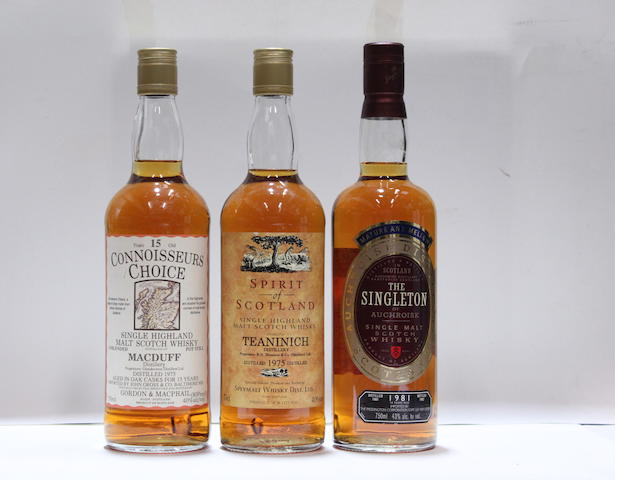 MacDuff-15 year old-1975Teaninich-1975The Singleton of Auchroisk-1981