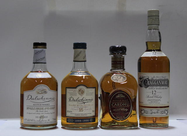 Cardhu-12 year old (2)Cragganmore-12 year old (2)Dalwhinnie-15 year old (2)Dalwhinnie Centenary-15 year old (2)