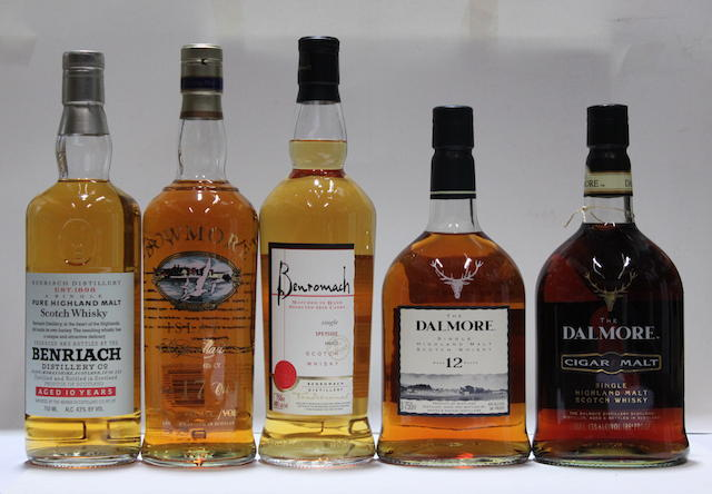Benriach-10 year old (3)   Benromach  Bowmore-17 year old (2)   Dalmore-12 year old (3)   Dalmore Cigar Malt