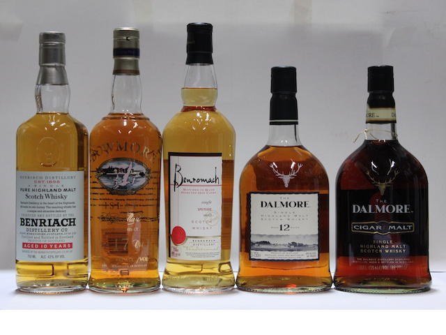 Benriach-10 year old (3)BenromachBowmore-17 year old (2)Dalmore-12 year old (3)Dalmore Cigar Malt