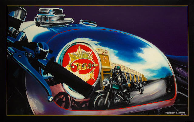 Robert Carter, 'BSA Rocket Reflection',