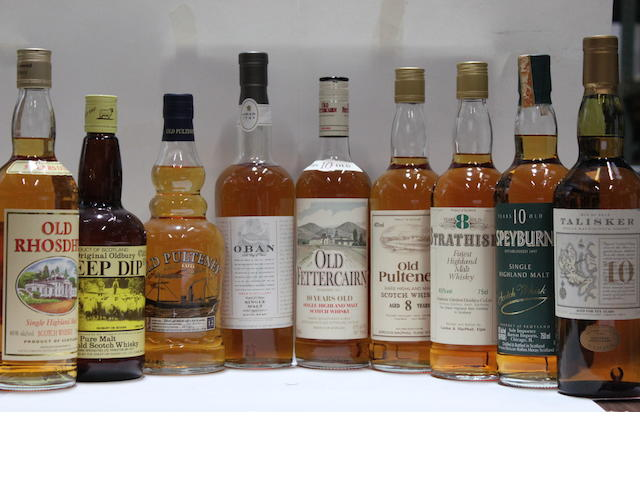 Oban-14 year old (3)Old Fettercairn-10 year oldOld Pulteney-8 year oldOld Pulteney-8 year oldOld Pulteney-12 year oldOld Rhosdhu-5 year oldSheep Dip-8 year oldSpeyburn-10 year oldStrathisla-8 year oldTalisker-10 year old