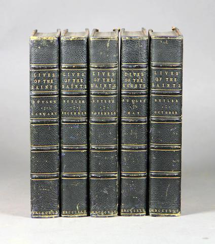 Butler, Alban. Lives of the Saints. Dublin: 1845. Half morocco. 12 volumes.