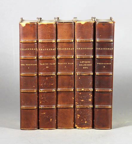 [BINDINGS.] Thackeray, William Makepeace. 30 vols.