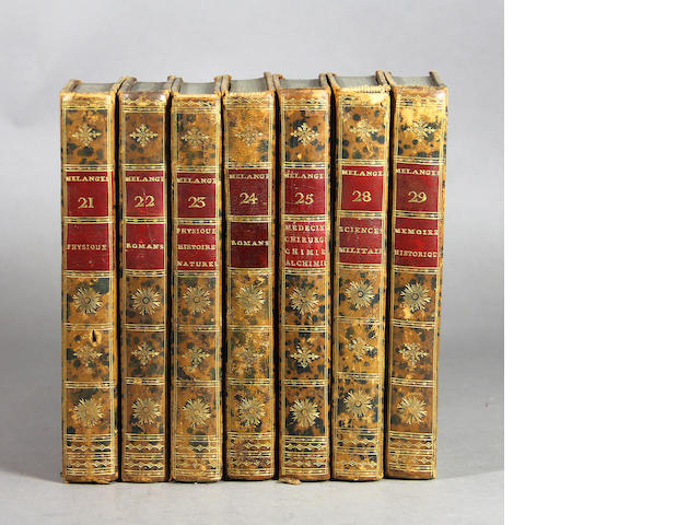[BINDINGS.] Melanges. 60+ vols.